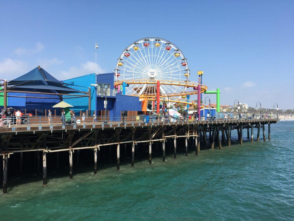 Santa Monica Pier - Západ USA