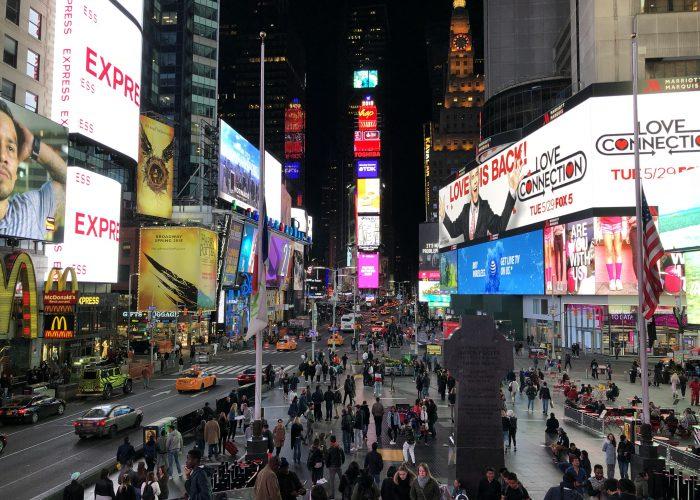 Polnoc na Times Square