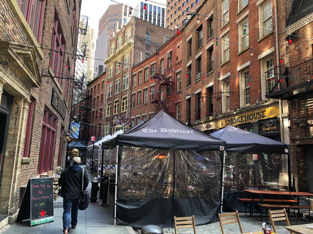 Stone Street určite patrí medzi zaujímavé miesta New Yorku