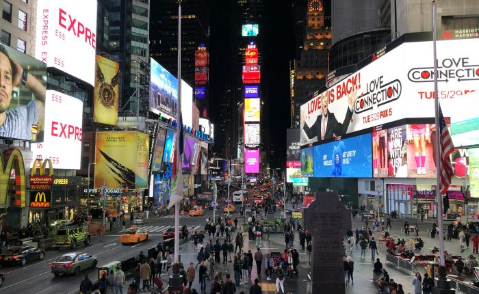 Nočný Times Square